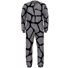 Skin1 Black Marble & Gray Colored Pencil Onepiece Jumpsuit (men)