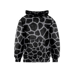 Skin1 Black Marble & Gray Colored Pencil (r) Kids  Pullover Hoodie