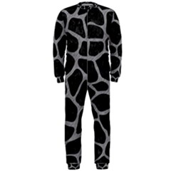 Skin1 Black Marble & Gray Colored Pencil (r) Onepiece Jumpsuit (men)