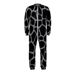 Skin1 Black Marble & Gray Colored Pencil (r) Onepiece Jumpsuit (kids)