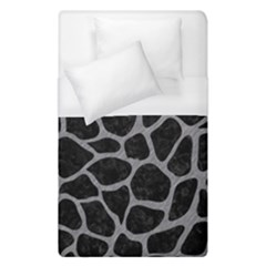 Skin1 Black Marble & Gray Colored Pencil (r) Duvet Cover (single Size)