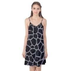 Skin1 Black Marble & Gray Colored Pencil (r) Camis Nightgown