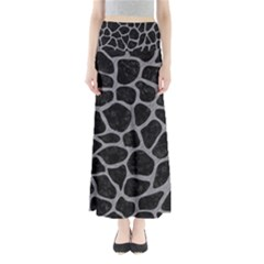 Skin1 Black Marble & Gray Colored Pencil (r) Full Length Maxi Skirt