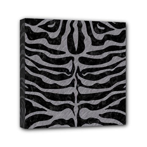 Skin2 Black Marble & Gray Colored Pencil Mini Canvas 6  X 6