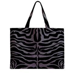 Skin2 Black Marble & Gray Colored Pencil Zipper Mini Tote Bag