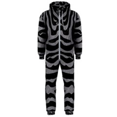 Skin2 Black Marble & Gray Colored Pencil Hooded Jumpsuit (men)