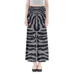 Skin2 Black Marble & Gray Colored Pencil Full Length Maxi Skirt