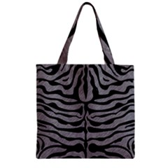 Skin2 Black Marble & Gray Colored Pencil (r) Zipper Grocery Tote Bag
