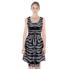 Skin2 Black Marble & Gray Colored Pencil (r) Racerback Midi Dress