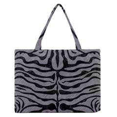 Skin2 Black Marble & Gray Colored Pencil (r) Zipper Medium Tote Bag