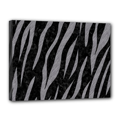 Skin3 Black Marble & Gray Colored Pencil Canvas 16  X 12
