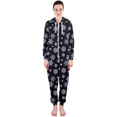 Xmas Pattern Hooded Jumpsuit (ladies)