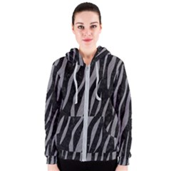 Skin3 Black Marble & Gray Colored Pencil Women s Zipper Hoodie
