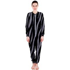 Skin3 Black Marble & Gray Colored Pencil Onepiece Jumpsuit (ladies)