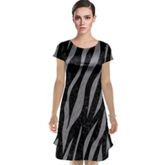 Skin3 Black Marble & Gray Colored Pencil Cap Sleeve Nightdress