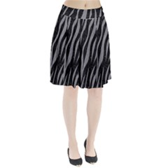 Skin3 Black Marble & Gray Colored Pencil Pleated Skirt