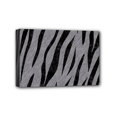 Skin3 Black Marble & Gray Colored Pencil (r) Mini Canvas 6  X 4