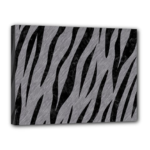 Skin3 Black Marble & Gray Colored Pencil (r) Canvas 16  X 12