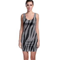 Skin3 Black Marble & Gray Colored Pencil (r) Bodycon Dress