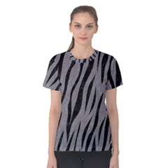 Skin3 Black Marble & Gray Colored Pencil (r) Women s Cotton Tee