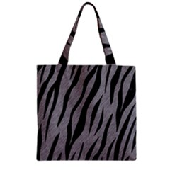 Skin3 Black Marble & Gray Colored Pencil (r) Zipper Grocery Tote Bag
