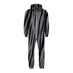 Skin3 Black Marble & Gray Colored Pencil (r) Hooded Jumpsuit (kids)