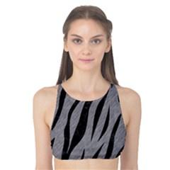 Skin3 Black Marble & Gray Colored Pencil (r) Tank Bikini Top