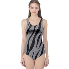 Skin3 Black Marble & Gray Colored Pencil (r) One Piece Swimsuit