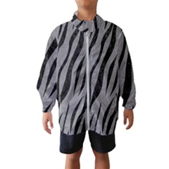 Skin3 Black Marble & Gray Colored Pencil (r) Wind Breaker (kids)