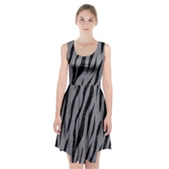 Skin3 Black Marble & Gray Colored Pencil (r) Racerback Midi Dress