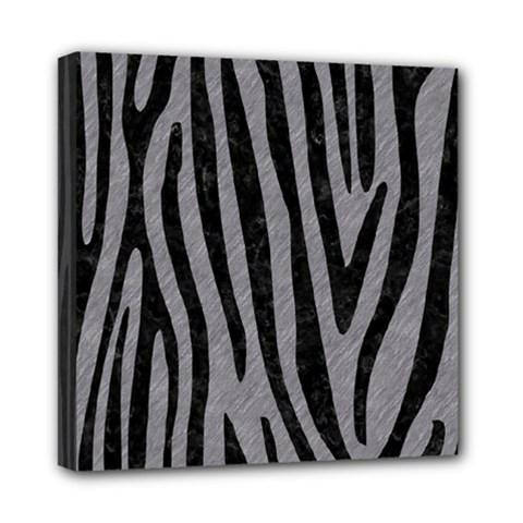 Skin4 Black Marble & Gray Colored Pencil Mini Canvas 8  X 8