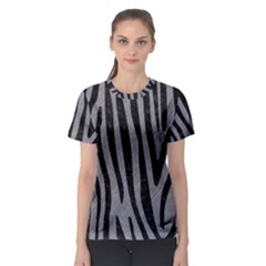 Skin4 Black Marble & Gray Colored Pencil Women s Sport Mesh Tee