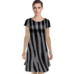 Skin4 Black Marble & Gray Colored Pencil Cap Sleeve Nightdress