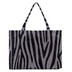 Skin4 Black Marble & Gray Colored Pencil Zipper Medium Tote Bag