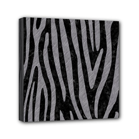 Skin4 Black Marble & Gray Colored Pencil (r) Mini Canvas 6  X 6