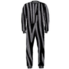 Skin4 Black Marble & Gray Colored Pencil (r) Onepiece Jumpsuit (men)