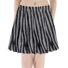 Skin4 Black Marble & Gray Colored Pencil (r) Pleated Mini Skirt