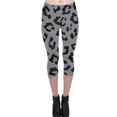 Skin5 Black Marble & Gray Colored Pencil Capri Leggings