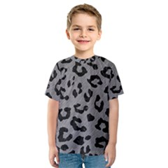 Skin5 Black Marble & Gray Colored Pencil Kids  Sport Mesh Tee