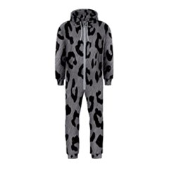 Skin5 Black Marble & Gray Colored Pencil Hooded Jumpsuit (kids)