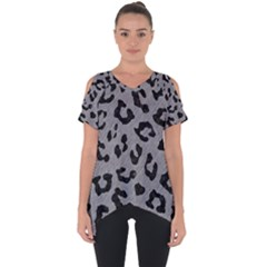 Skin5 Black Marble & Gray Colored Pencil Cut Out Side Drop Tee