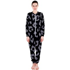 Skin5 Black Marble & Gray Colored Pencil (r) Onepiece Jumpsuit (ladies)
