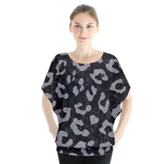 Skin5 Black Marble & Gray Colored Pencil (r) Blouse