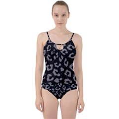 Skin5 Black Marble & Gray Colored Pencil (r) Cut Out Top Tankini Set