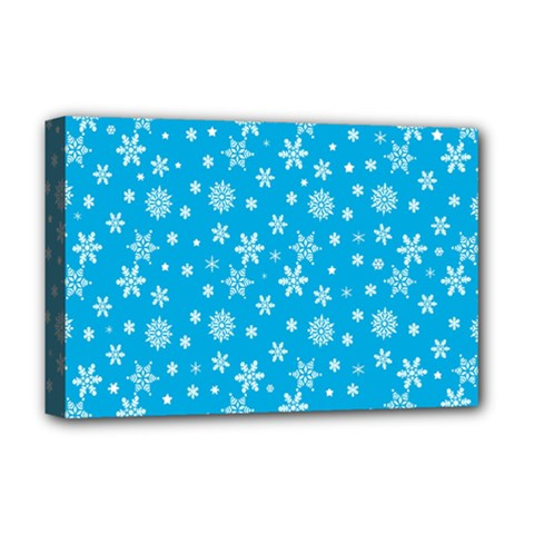 Xmas Pattern Deluxe Canvas 18  X 12