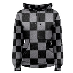 Square1 Black Marble & Gray Colored Pencil Women s Pullover Hoodie