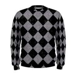 Square2 Black Marble & Gray Colored Pencil Men s Sweatshirt