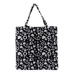 Xmas Pattern Grocery Tote Bag