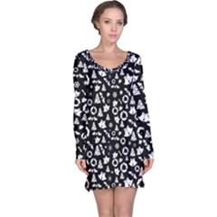 Xmas Pattern Long Sleeve Nightdress