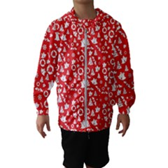 Xmas Pattern Hooded Wind Breaker (kids)